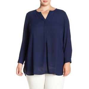 DR2 Women's Navy Front Pleat Tunic Size 2X